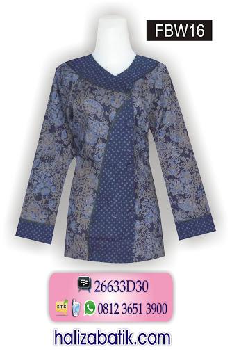 FBW16 Butik Batik Online, Model Baju Terkini, Baju Batik Wanita, FBW16