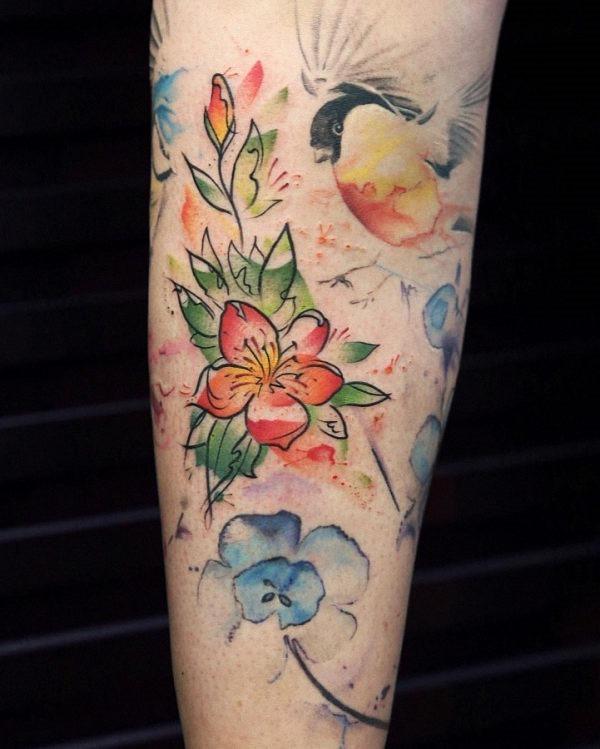 este_espetacular_aquarela_flor_da_tatuagem