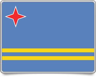 Aruban framed flag icons with box shadow