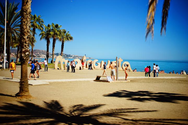 playa de la malagueta vistas al mar