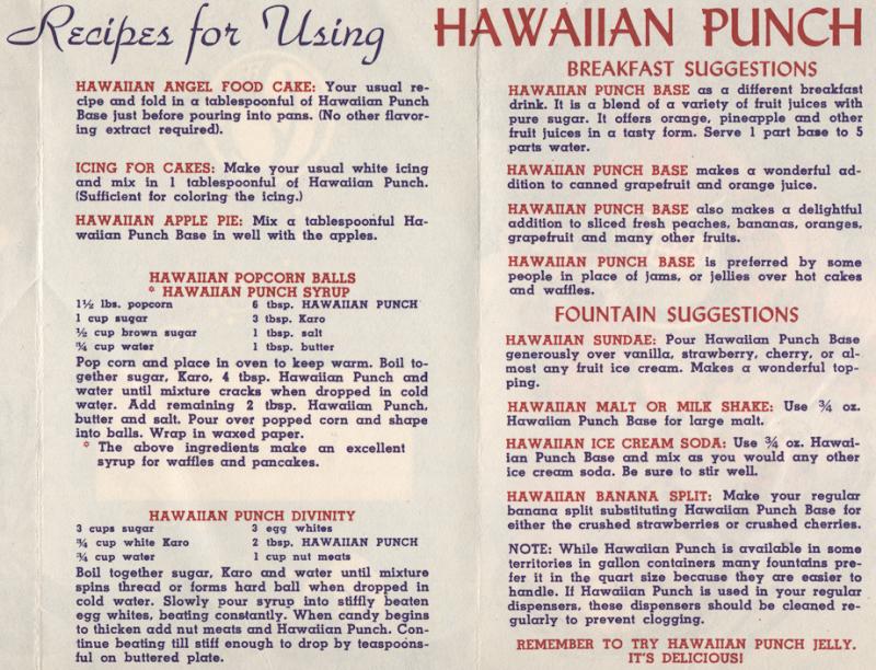 Retro Hawaiian Punch Recipes