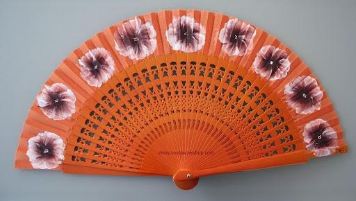 Waaier, fan, abanico oranje