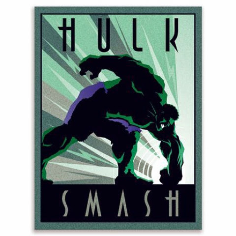 Retro Hulk Artwork