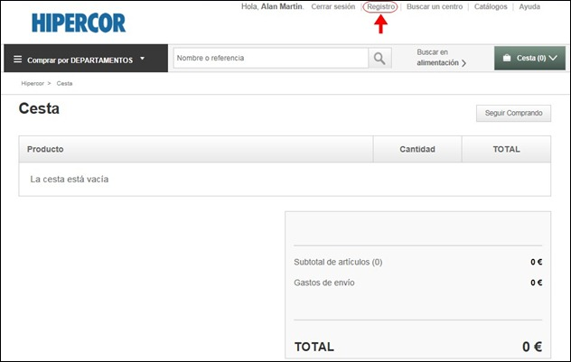 Abrir mi cuenta Hipercor - 549