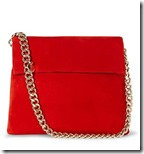 Karen Millen Red Suede Chain Bag