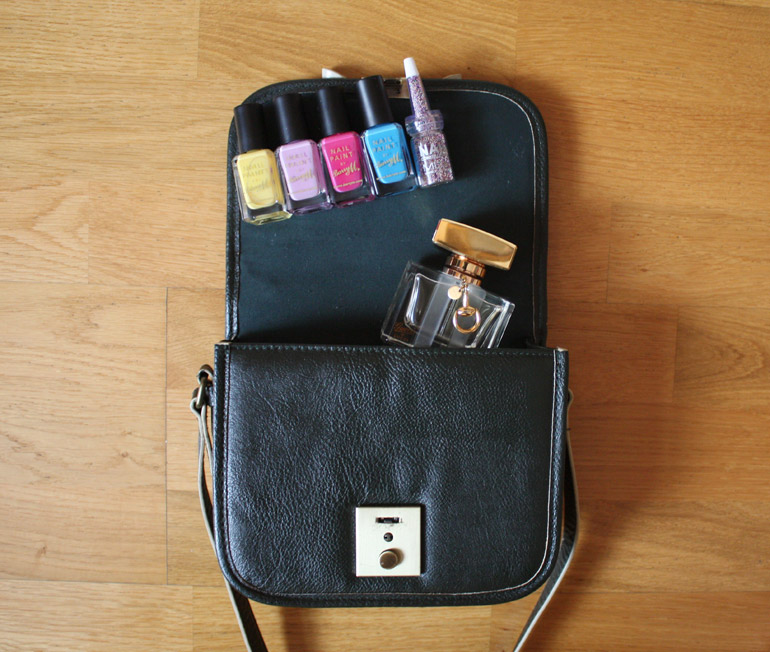 barry m satchel fashion outfit flat lay from the high street