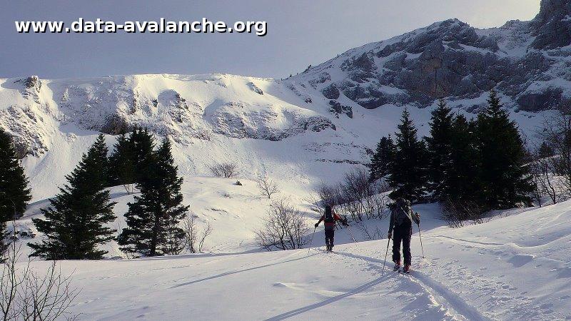 Avalanche Vercors, secteur Roc Cornafion, Combe Chaulange - Photo 1