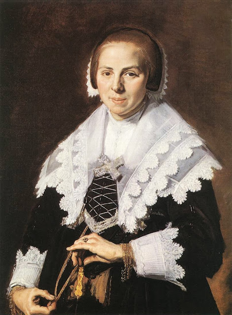 Frans Hals - Portrait of a Woman Holding a Fan