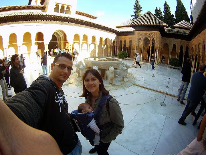 Ruta por Andalucía. Selfie en la Alhambra