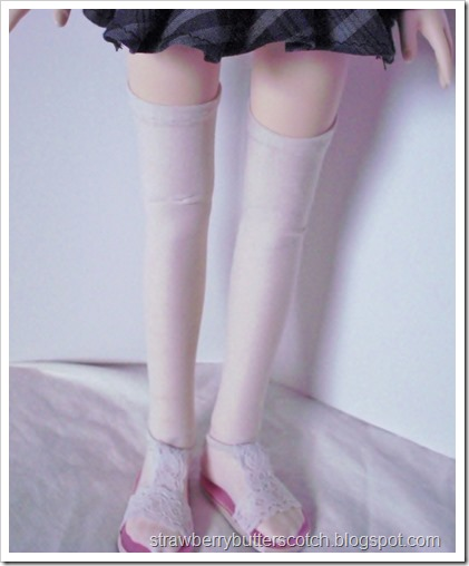 Thigh high socks for dolls.