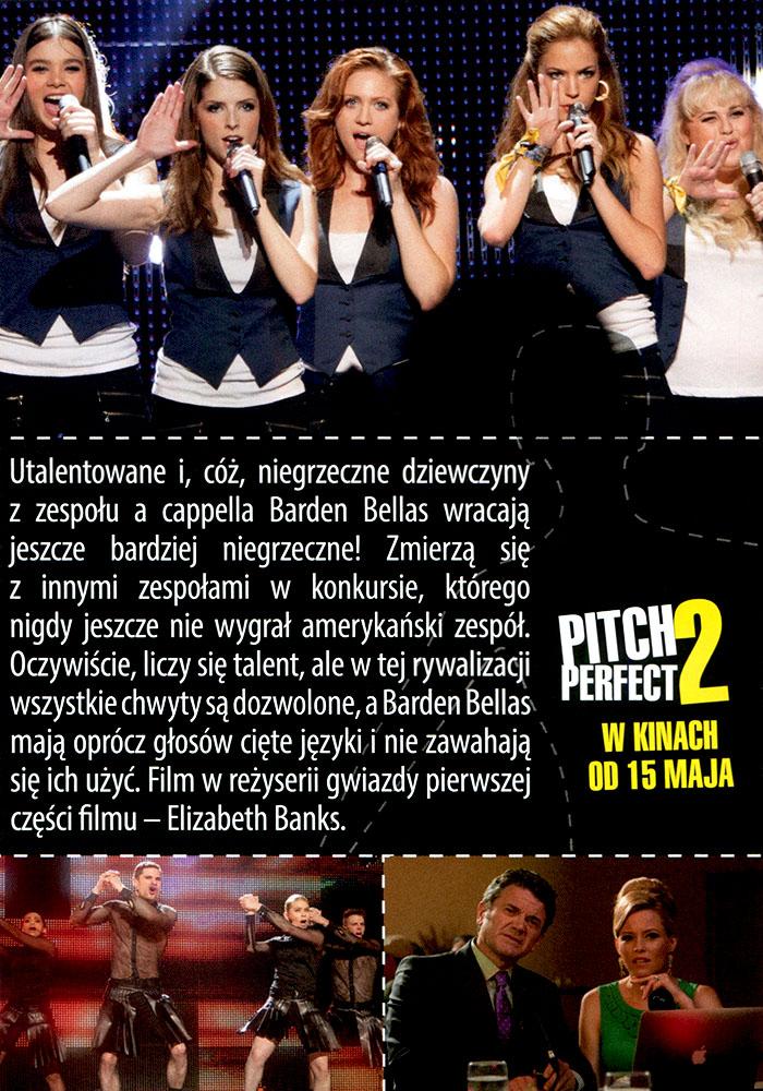 Ulotka filmu 'Pitch Perfect 2 (tył)'