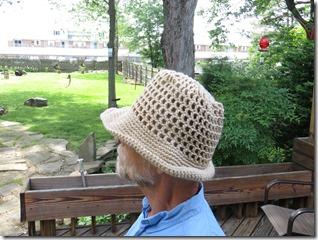 Crochet Mesh Sun Hat (free pattern link, tutorial)