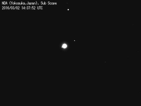 サブスコープ画像:木星とガリレオ衛星