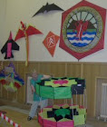 Large box kite, part of the display in the Victoria Hall
