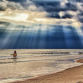 captured moments #2 by  pemavis Photography - Landscapes Beaches ( horseback riding, thunderstorm, sea, beach )