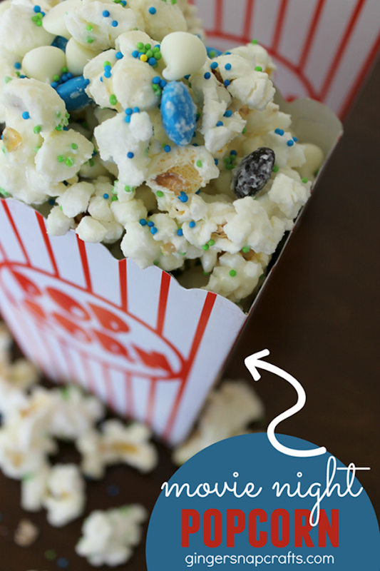 Movie Night Popcorn Recipe at GingerSnapCrafts.com #movienight4less #cbias #ad_thumb