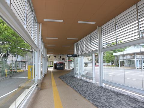 新潟交通 萬代橋ライン 市役所前 新潟駅前方面行きバス停 その2