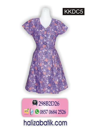 KKDC5 Dress Modern, Model Batik, Baju Dress Batik, KKDC5