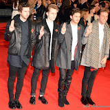 WWW.ENTSIMAGES.COM -      Kingsland Road Band   at      The Hunger Games - Mockingjay - part 1 - UK film premiere at Odeon Leicester Square, London November 10th 2014Premiere of latest film in the Hunger Games franchise, which this time sees Katniss lead a rebellion against the tyrannical and corrupt Capitol.                                              Photo Mobis Photos/OIC 0203 174 1069