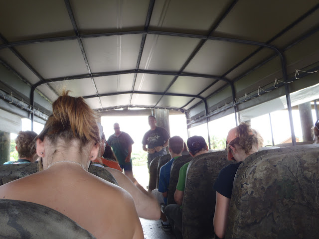 Inside of the Swamp Buggy