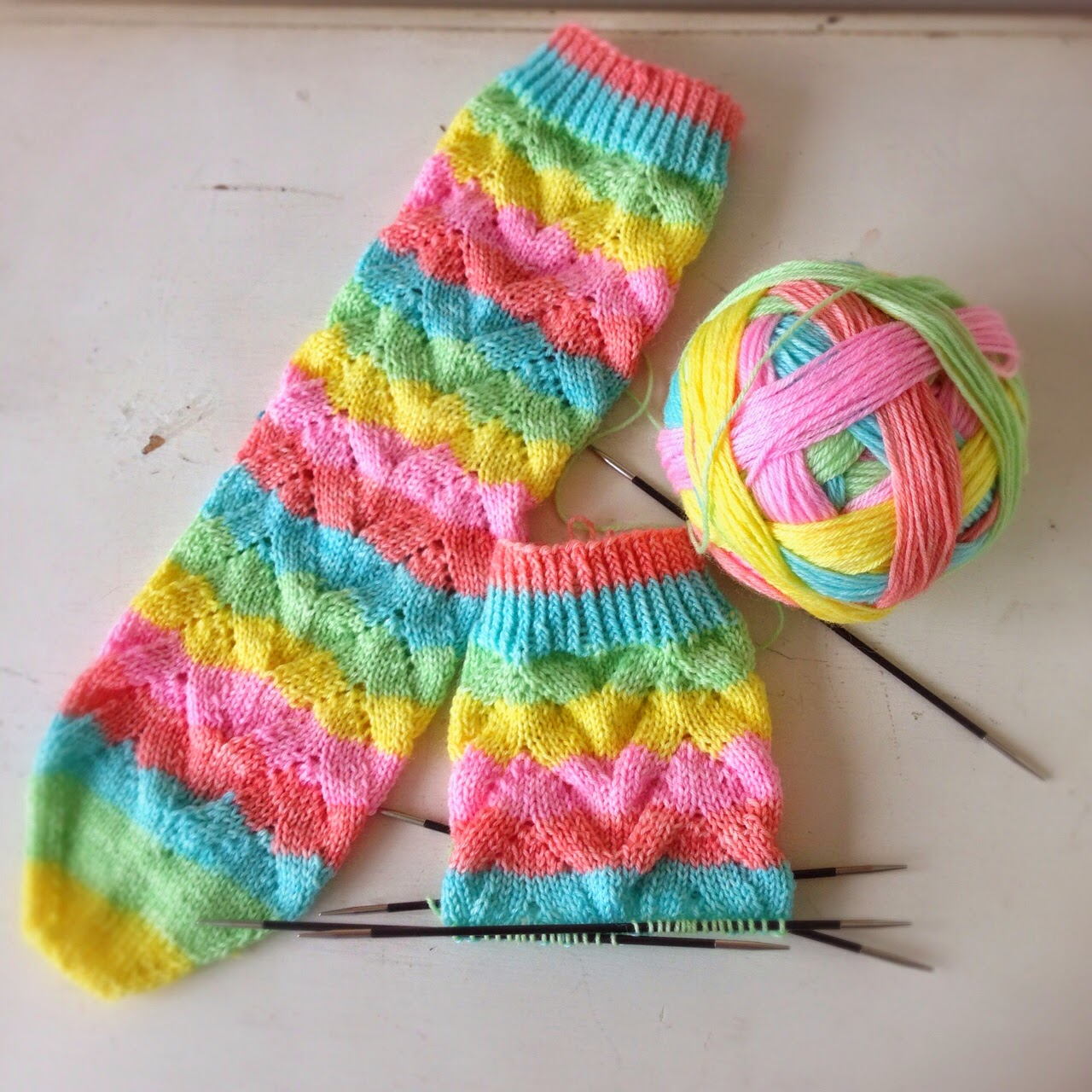A World of Imagination: No Purl Monkey Socks......month of socks.
