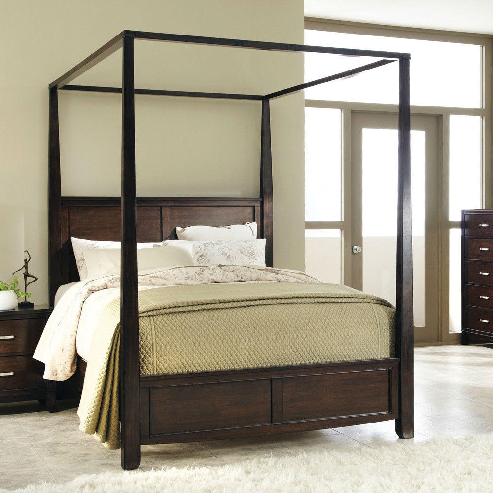 Wooden Canopy Bed Frame Ideas