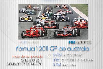 Este Fin de Semana: Inicia la F1 2011