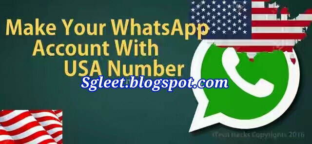 EASIEST WAY TO CREATE YOUR WHATSAPP WITH USA NUMBER (WORKING WHATSAPP TRICK 2016)