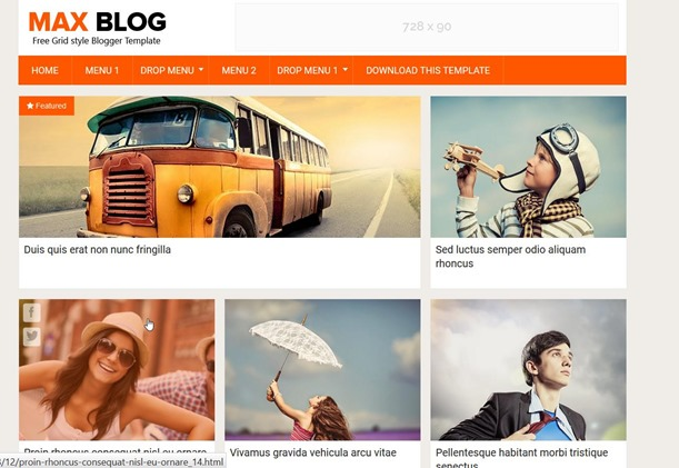 max-blog-template