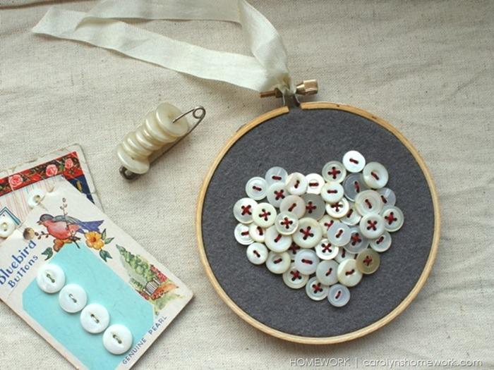 Vintage Button Heart  (4)[7]
