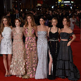 OIC - ENTSIMAGES.COM - Hermione Corfield, Ellie Bamber, Suki Waterhouse, Millie Brady, Bella Heathcote and Lily James at the  Pride and Prejudice and Zombies - European film premiere in London 1st February 2016 Photo Mobis Photos/OIC 0203 174 1069