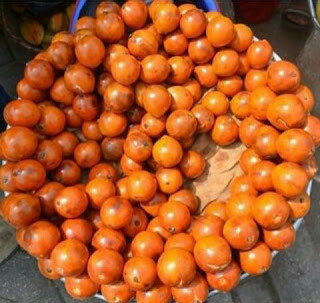 African cherry as seen displayed on a tray  ready to be sold