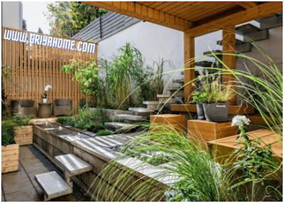 Taman belakang ideal sebagai ruang bersantai