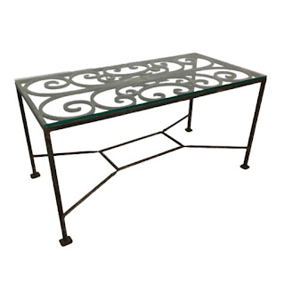 Steel and Plate Glass Coffee Table