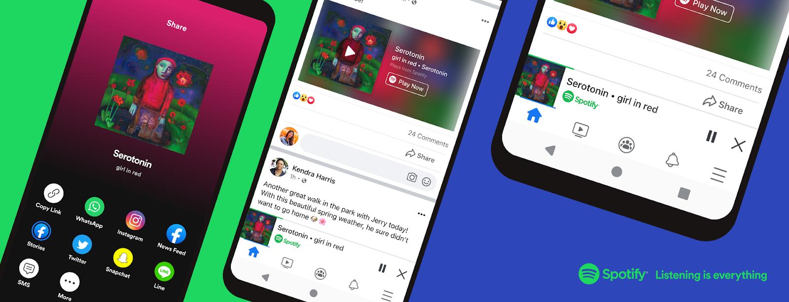 เปิดประสบการณ์ใหม่ผ่านมินิเพลเยอร์ เพลิดเพลินไปกับเพลง และพอดแคสต์จาก Spotify ได้แล้วโดยตรงบนแอปพลิเคชัน Facebook ของคุณ