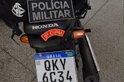 PM apreende motocicleta com restrição de roubo em Maruim