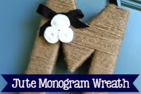 Monogram Jute Wreath