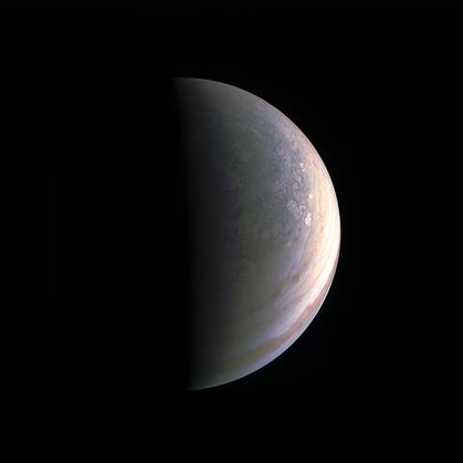 polo norte de Júpiter