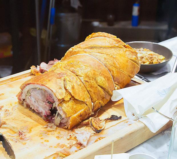 photo of a large Porchetta