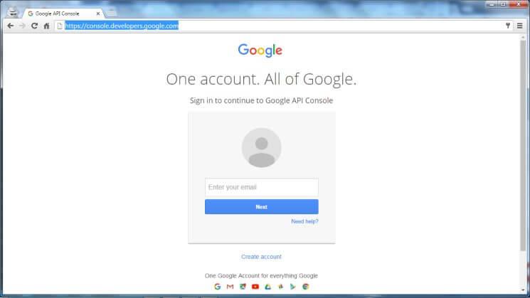 Web Push Notification Google Dev Console Login