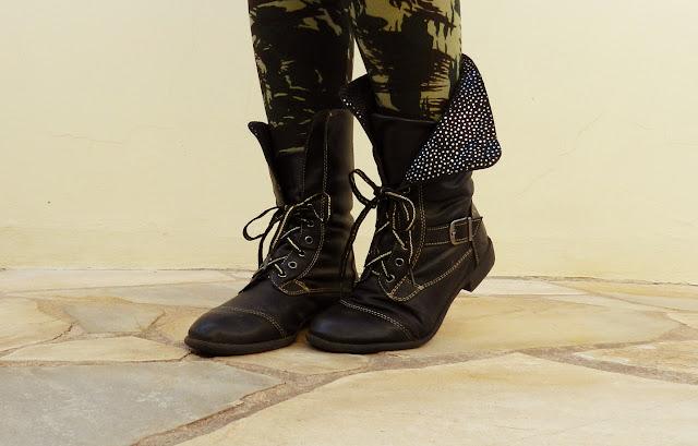 look calça camuflada militar