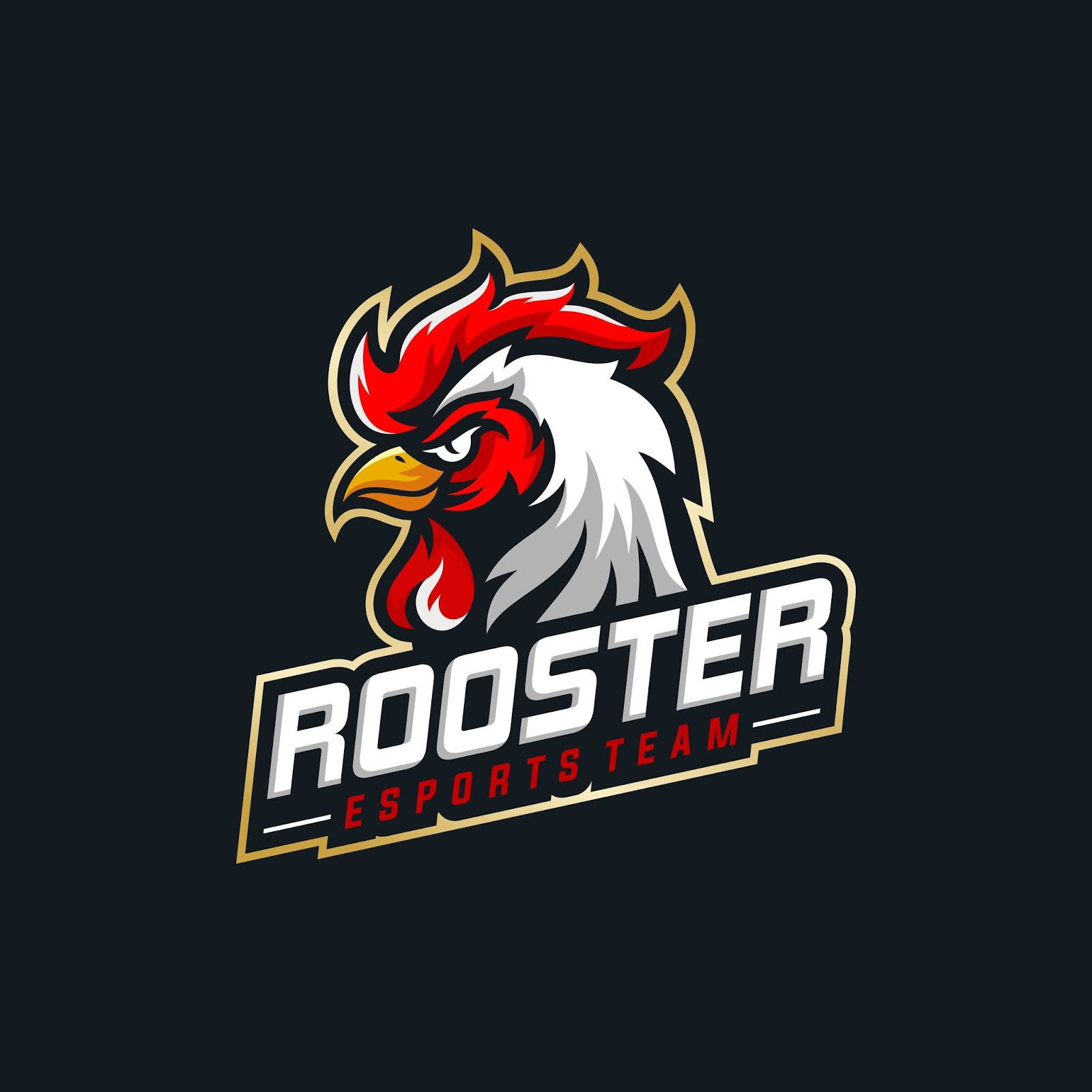 Rooster Mascot Sport Free Download Vector CDR, AI, EPS and PNG Formats