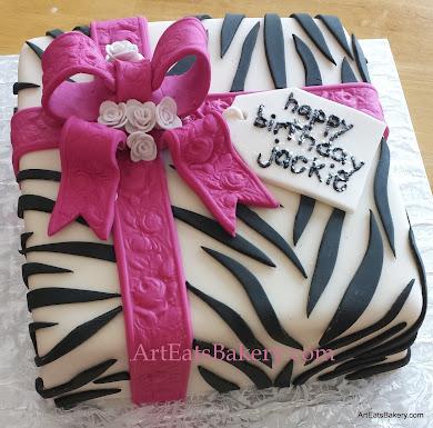 Admirable Animal Print Birthday Cakes Art Eats Bakery Taylors Sc Personalised Birthday Cards Veneteletsinfo