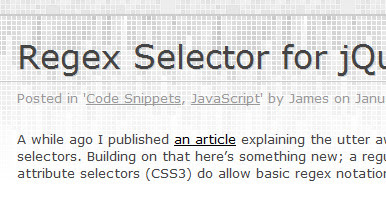 Regex Selector for jQuery