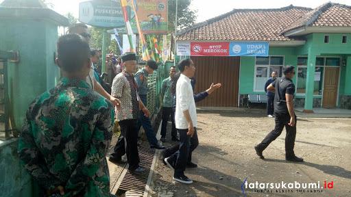 Jokowi di Puskesmas Bantargadung Sukabumi