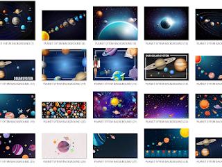 Muat Turun Background Resolusi Tinggi (HD) : Tema Sistem Planet, Sistem Suria