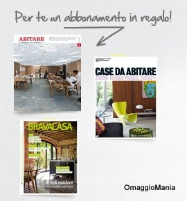 Gratis un abbonamento trimestrale per riviste di for Riviste arredamento on line gratis