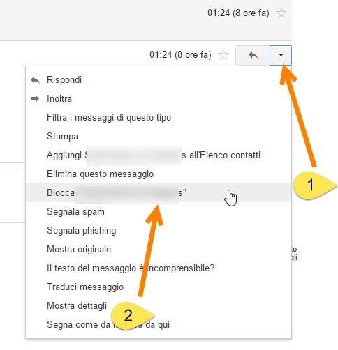 bloccare-mittente-gmail