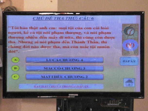"""Hội thi Lời Chúa tại giáo hạt Ninh Phước:  Chủ đề """"Yêu thương -  Phục vụ - Tha thứ"""""""