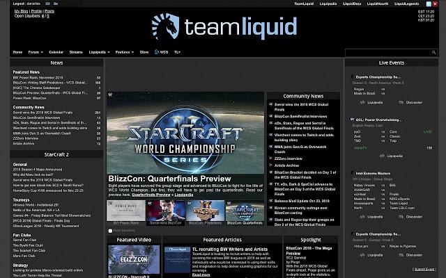 Teamliquid.net - Dark Theme